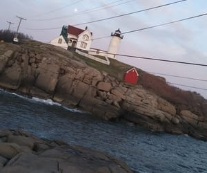 beauty, lighthouse, and ocean image