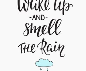 good morning, quotes, and rain image