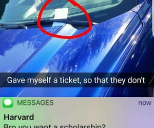 car, clever, and ticket image