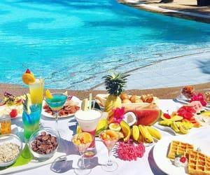 summer, beach, and breakfast image