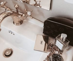 luxury, gold, and bathroom image
