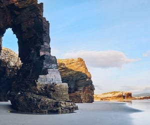 beach, spain, and galice image