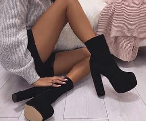 heels, black, and boots image