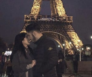 city, couples, and eiffeltower image