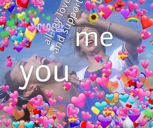 hearts, memes, and mood image