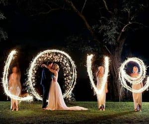 love, wedding, and light image