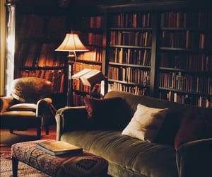 apartment, books, and bookshelves image