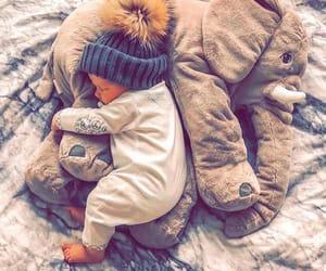 baby, boy, and elephant image