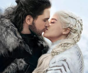 jon snow, daenerys targaryen, and got image
