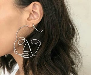 aesthetics, beige, and earrings image