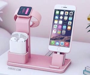 iphone, pink, and technology image