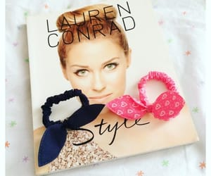 girly, bow hairties, and lauren conrad image