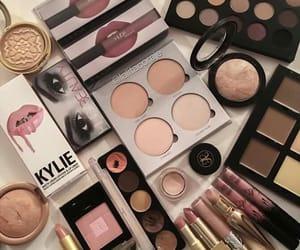 beauty, eye shadow, and lipstick image