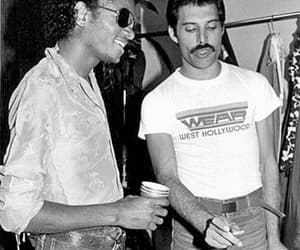 Freddie Mercury, michael jackson, and Queen image