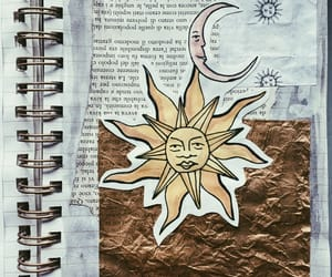 art journal, crafty, and moon image