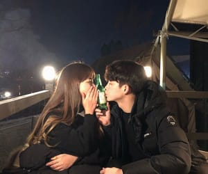 aesthetic, couple, and night image