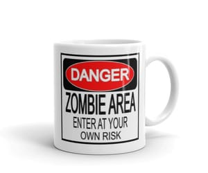 funny, enter at your own risk, and zombie area image