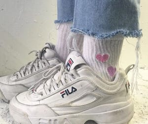 shoes, Fila, and socks image