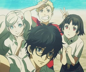 amamiya ren, persona 5 the animation, and p5a image