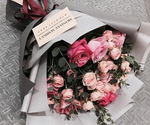flowers, gift, and pink image