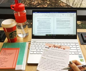 coffe, macbook, and study image