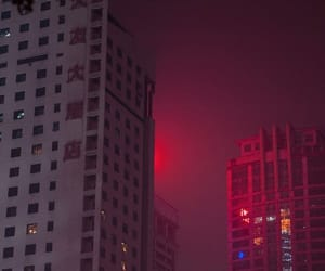 aesthetic, red, and city image