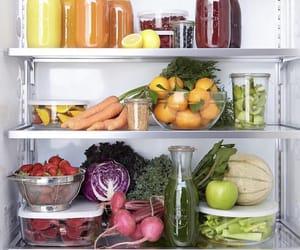 fridge, healthy, and vegan image