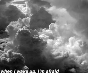 alone, clouds, and depression image