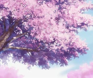anime, flowers, and light image