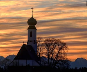 bavaria, church, and cloudy image
