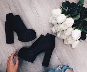 shoes, fashion, and rose image