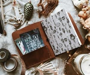art, botanical, and notebook image