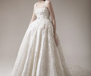 bridal, embellishment, and haute couture image