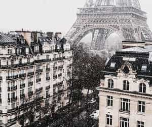 aesthetic, france, and snow image