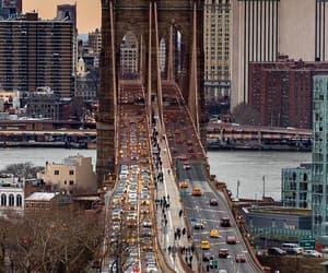 bridge, new york city, and skyline image