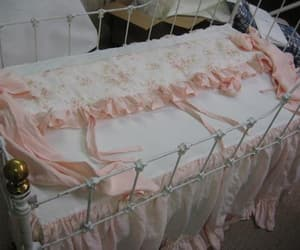 etsy, pink nursery, and ruffled curtains image