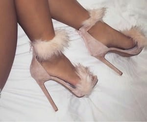 fashion, fur, and heels image