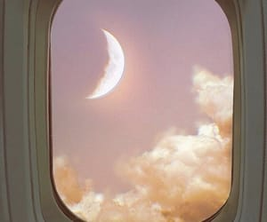 moon, aesthetic, and sky image
