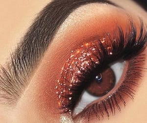 glitter, girl, and lashes image