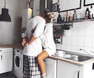 couple, love, and home image