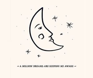 lyric, moon, and quote image