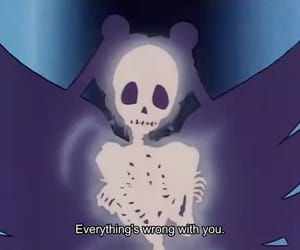 sailor moon, anime, and skeleton image