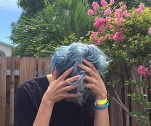 boy, blue, and hair image