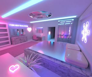 neon, room, and pastel image