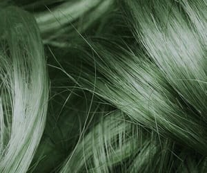 aesthetic, hair, and green image