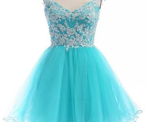 prom dress blue and short homecoming dress image