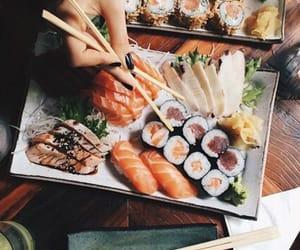 black, seafood, and food image
