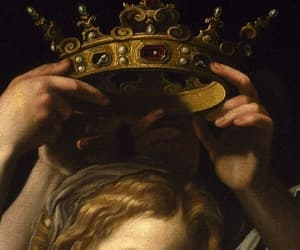 art, painting, and crown image