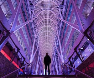 architecture, city, and neon image