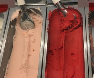 ice cream, red, and pink image